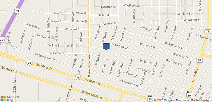 1203 West Elm Street Durant, OK, 74701 Map