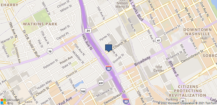 1205 Church St Nashville, TN, 37203 Map