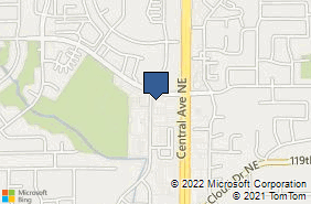Bing Map of 12076 Central Ave Ne Blaine, MN 55434