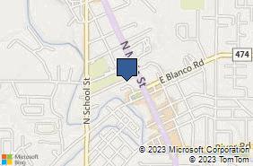 Bing Map of 121 Lohmann St Boerne, TX 78006