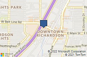 Bing Map of 121 S Central Expy Richardson, TX 75080
