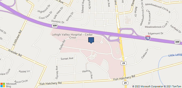1210 S Cedar Crest Blvd Allentown, PA, 18103 Map