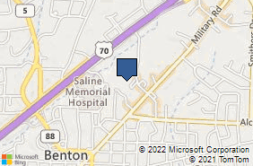 Bing Map of 1211 Ferguson Dr Benton, AR 72015