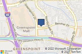 Bing Map of 12110 Greenspoint Dr Houston, TX 77060