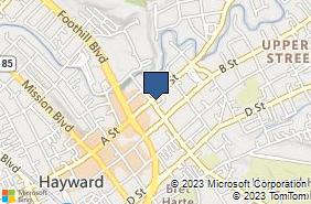 Bing Map of 1219 A St Hayward, CA 94541