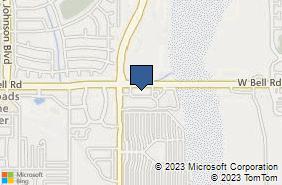 Bing Map of 12211 W Bell Rd Ste 203 Surprise, AZ 85378
