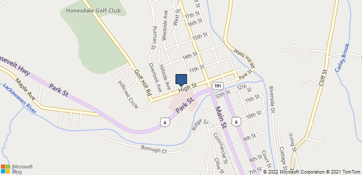 1227 Westside Ave Honesdale, PA, 18431 Map