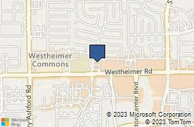 Bing Map of 12288 Westheimer Rd Ste 350 Houston, TX 77077