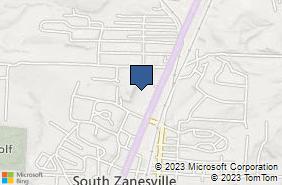 Bing Map of 123 N Maysville Ave Zanesville, OH 43701