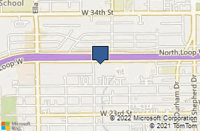 Bing Map of 1235 North Loop W Ste 1010 Houston, TX 77008