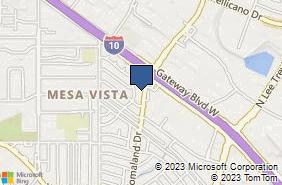 Bing Map of 1237 Lomaland Dr Ste D El Paso, TX 79907