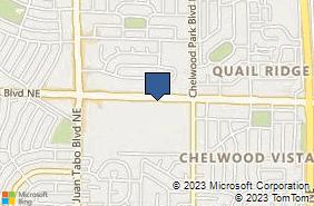 Bing Map of 12386 Lomas Blvd Ne Ste 5-B Albuquerque, NM 87112