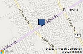 Bing Map of 124 E Main St Palmyra, PA 17078