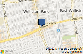 Bing Map of 124 Hillside Ave Williston Park, NY 11596