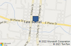 Bing Map of 125 W Plane St Bethel, OH 45106
