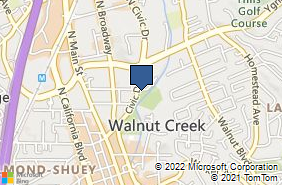 Bing Map of 1251 Civic Dr Walnut Creek, CA 94596