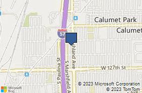 Bing Map of 12518 S Ashland Ave Calumet Park, IL 60827