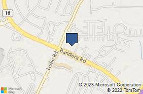 Bing Map of 12540 Bandera Rd Ste 209 Helotes, TX 78023
