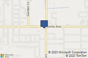 Bing Map of 1256 E Centre Ave Portage, MI 49002