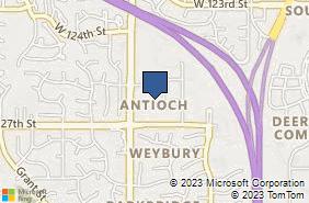 Bing Map of 12595 Antioch Rd Overland Park, KS 66213