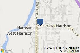 Bing Map of 126 Harrison Ave Harrison, OH 45030