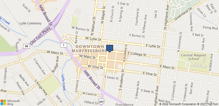 126 N Church St Murfreesboro, TN, 37130 Map