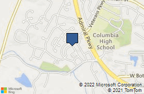 Bing Map of 1260 Columbia Centre Columbia, IL 62236
