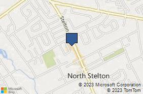 Bing Map of 1262 Stelton Rd Piscataway, NJ 08854