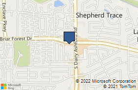 Bing Map of 12651 Briar Forest Dr Ste 280 Houston, TX 77077