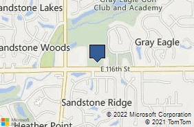Bing Map of 12676 E 116th St Fishers, IN 46037