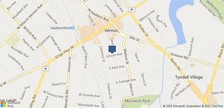 127 Lincoln Ave Haddonfield, NJ, 08033 Map
