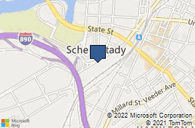 Bing Map of 128 Erie Blvd Schenectady, NY 12305