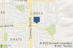 Bing Map of 12805 Menaul Blvd Ne Albuquerque, NM 87112