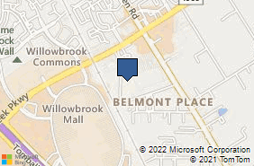 Bing Map of 12830 Willow Centre Dr Ste E Houston, TX 77066
