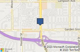 Bing Map of 12849 Beach Blvd Stanton, CA 90680