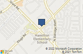 Bing Map of 12914 Malcomson Rd Houston, TX 77070