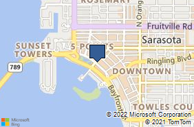 Bing Map of 1300 Main St Sarasota, FL 34236
