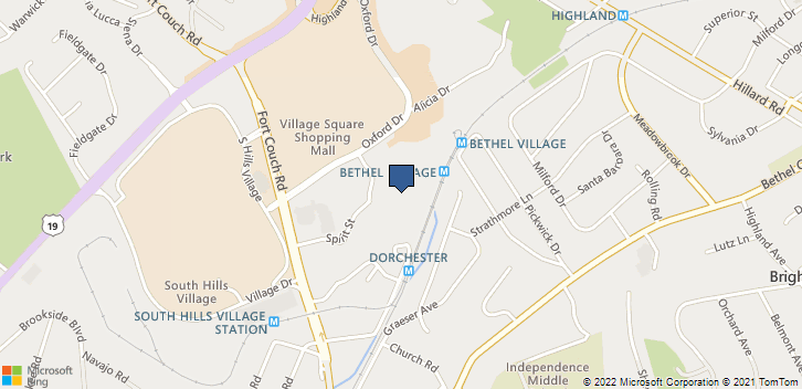 1300 Oxford Dr Bethel Park, PA, 15102 Map