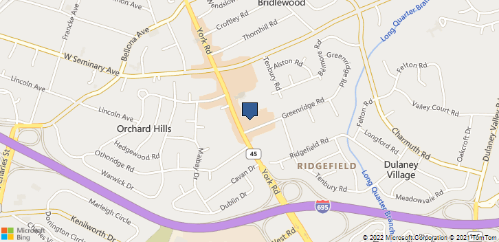 1301 York Road Lutherville-Timonium, MD, 21093 Map