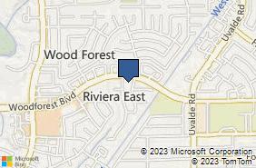 Bing Map of 13030 Woodforest Blvd Ste B Houston, TX 77015