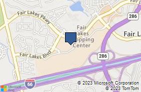 Bing Map of 13044 Fair Lakes Shopping Ctr Fairfax, VA 22033