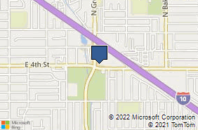 Bing Map of 1305 E 4th St Ontario, CA 91764