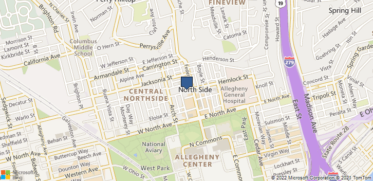 1307 Federal St Pittsburgh, PA, 15212 Map