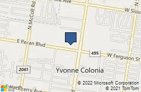 Bing Map of 1309 E Pecan Blvd McAllen, TX 78501
