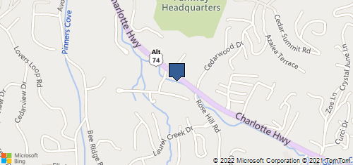 Bing Map of 131 Charlotte Hwy Asheville, NC 28803
