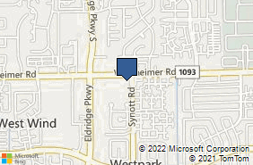 Bing Map of 13111 Westheimer Rd Ste 325 Houston, TX 77077