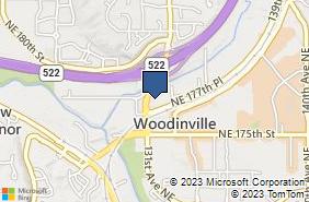 Bing Map of 13120 Ne 177th Pl Ste A101 Woodinville, WA 98072