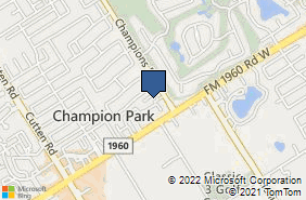 Bing Map of 13135 Champions Dr Ste 106 Houston, TX 77069