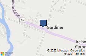 Bing Map of 132 Main St Gardiner, NY 12525