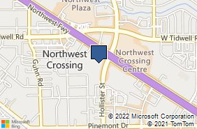 Bing Map of 13201 Northwest Fwy Ste 700 Houston, TX 77040